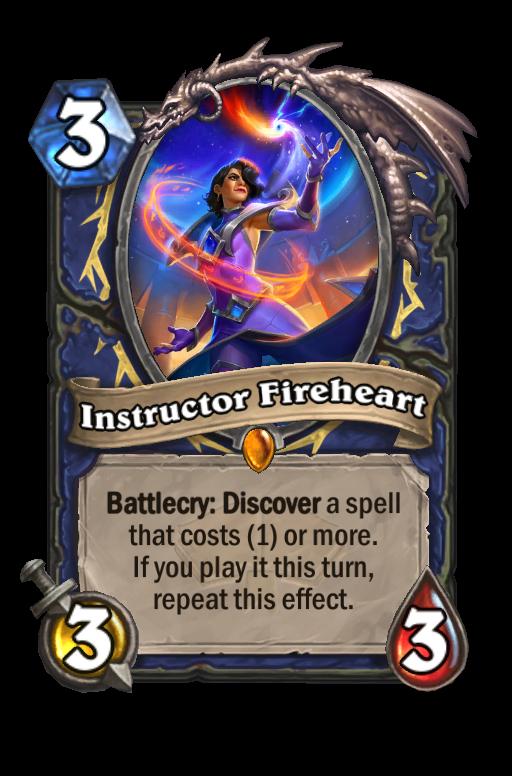 Instructor Fireheart Hearthstone kártya