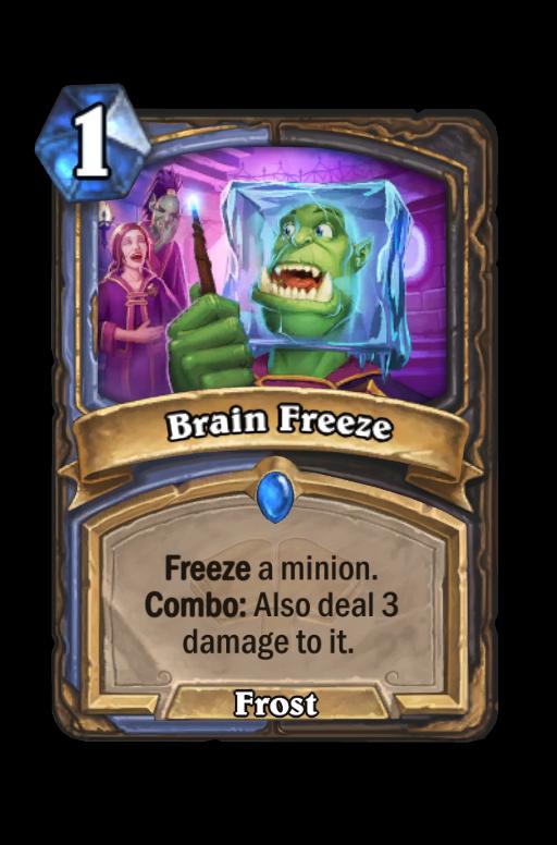 Brain Freeze Hearthstone kártya