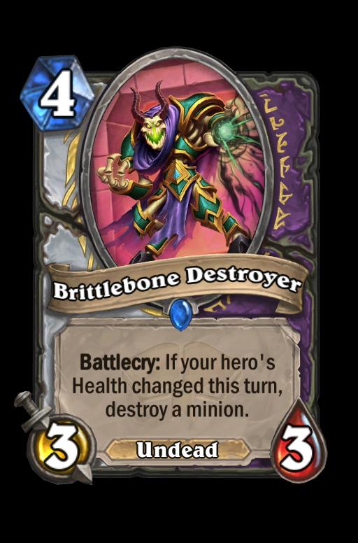 Brittlebone Destroyer Hearthstone kártya
