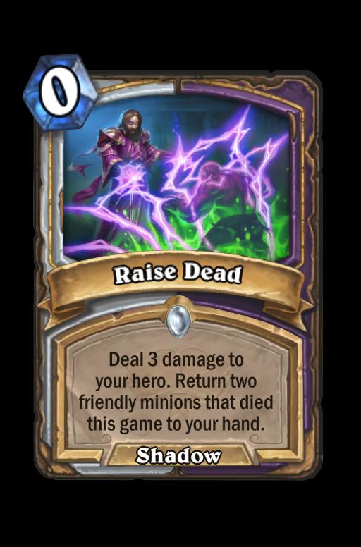 Raise Dead Hearthstone kártya