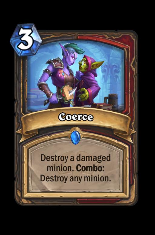Coerce Hearthstone kártya
