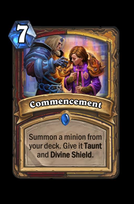 Commencement Hearthstone kártya