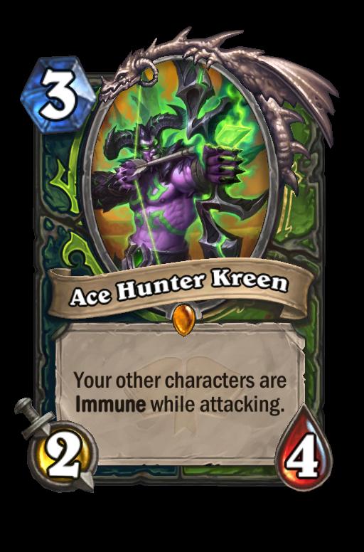 Ace Hunter Kreen Hearthstone kártya