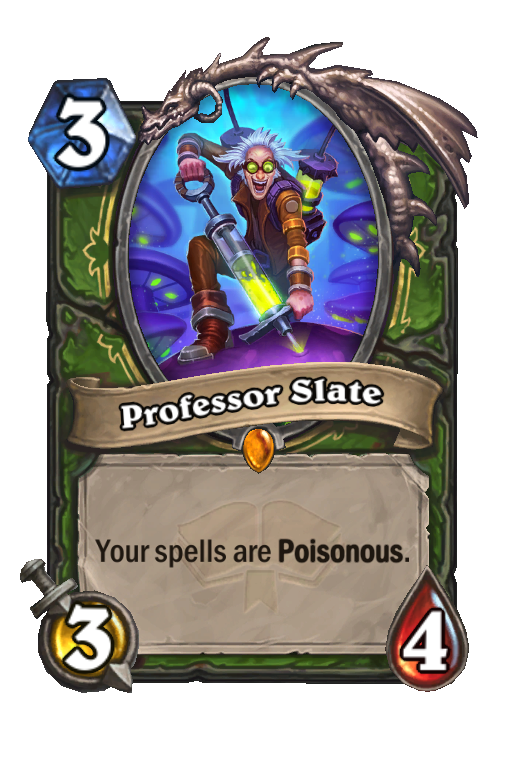 Professor Slate Hearthstone kártya