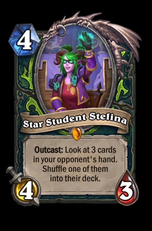 Star Student Stelina Hearthstone kártya