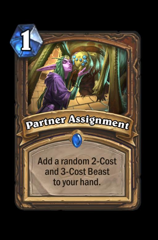 Partner Assignment Hearthstone kártya