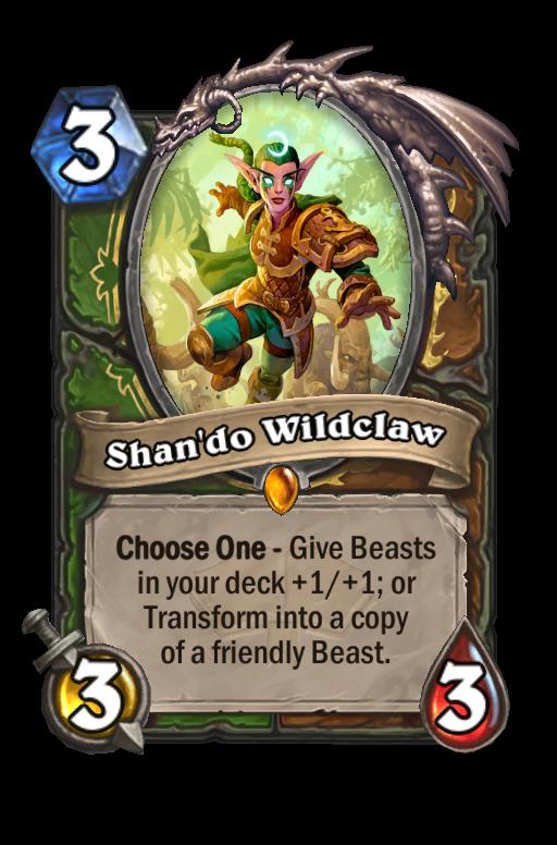 Shan'do Wildclaw Hearthstone kártya