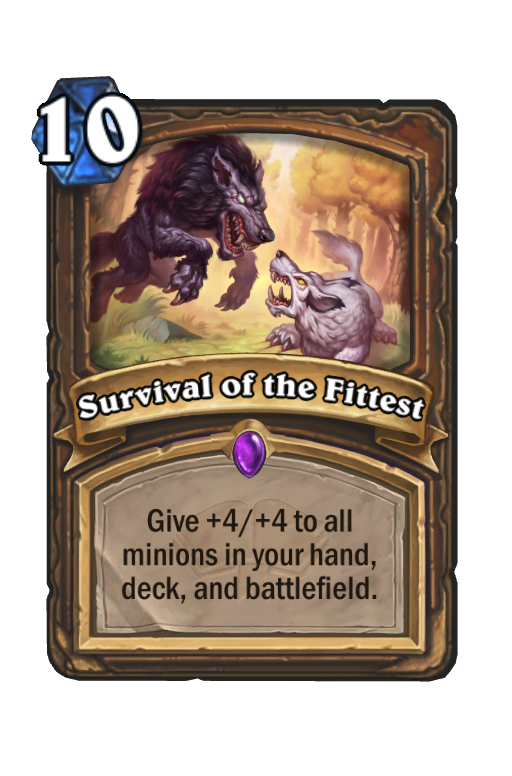 Survival of the Fittest Hearthstone kártya