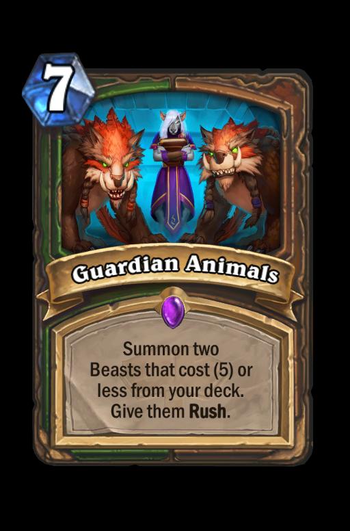 Guardian Animals Hearthstone kártya