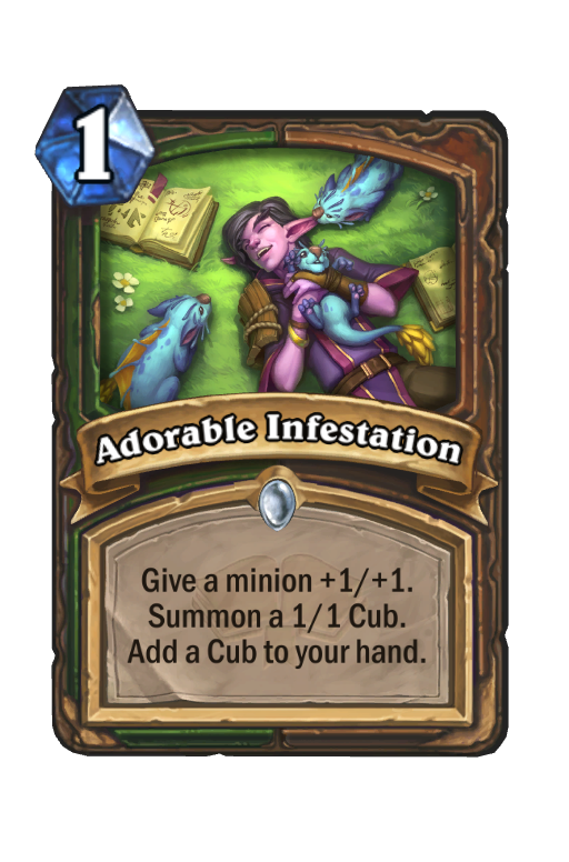 Adorable Infestation Hearthstone kártya