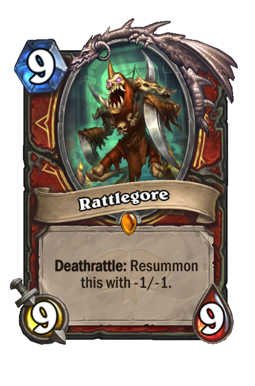 Rattlegore Hearthstone kártya