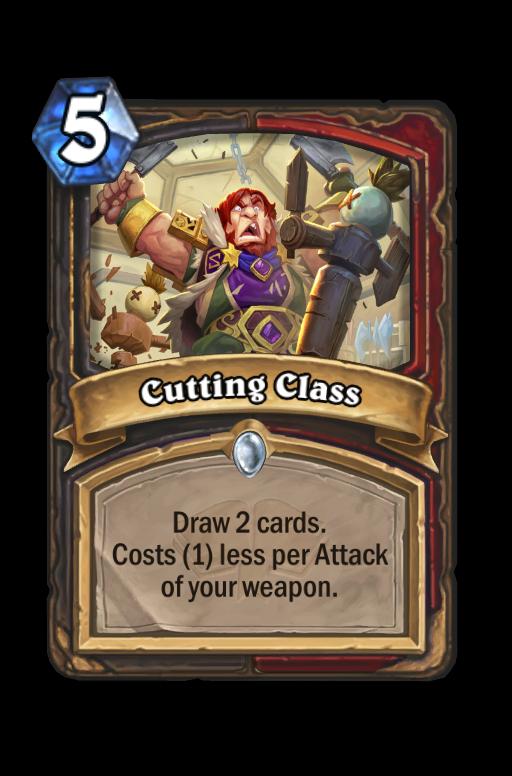 Cutting Class Hearthstone kártya