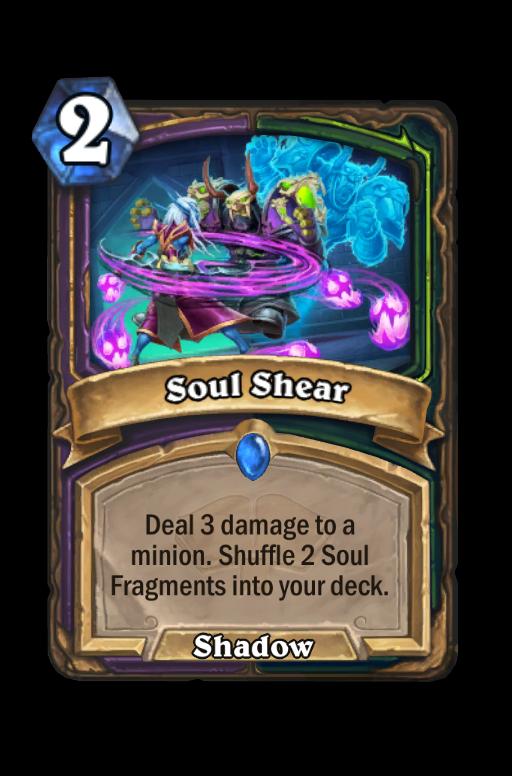Soul Shear Hearthstone kártya