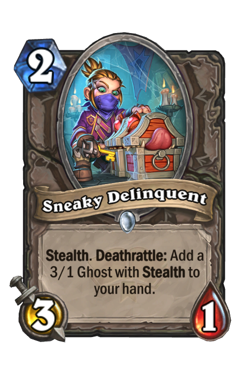 Sneaky Delinquent Hearthstone kártya