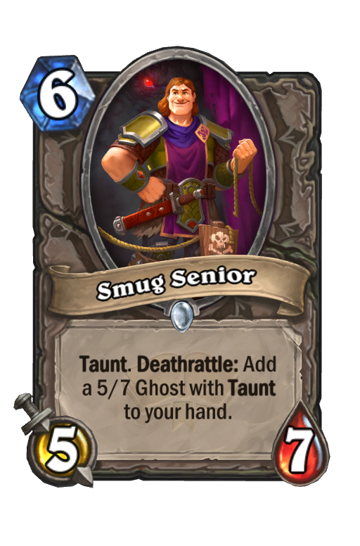 Smug Senior Hearthstone kártya