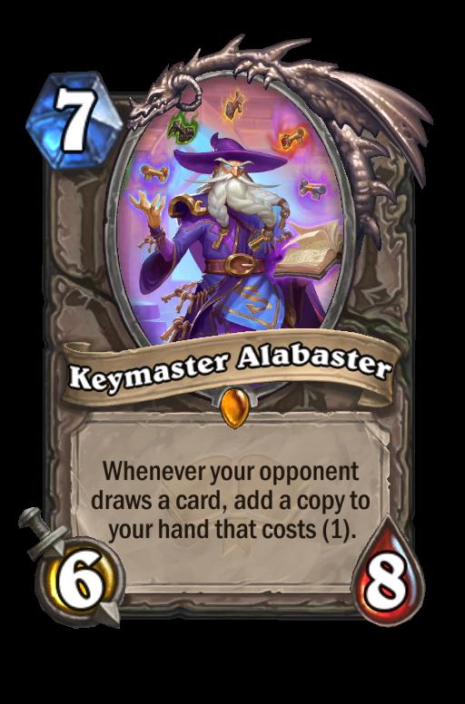 Keymaster Alabaster Hearthstone kártya