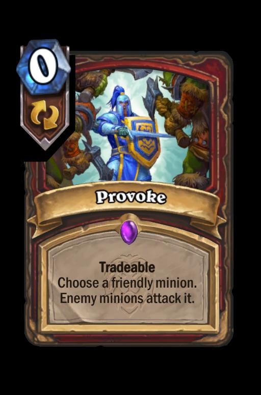 Provoke Hearthstone kártya