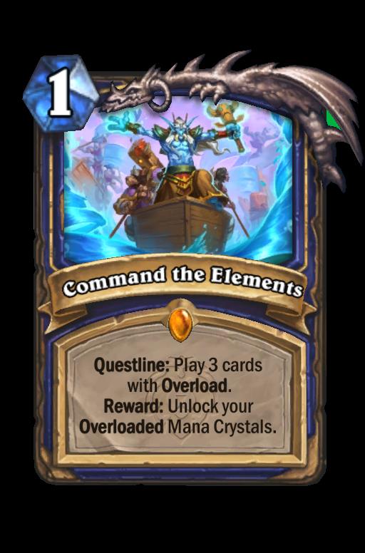 Command the Elements Hearthstone kártya
