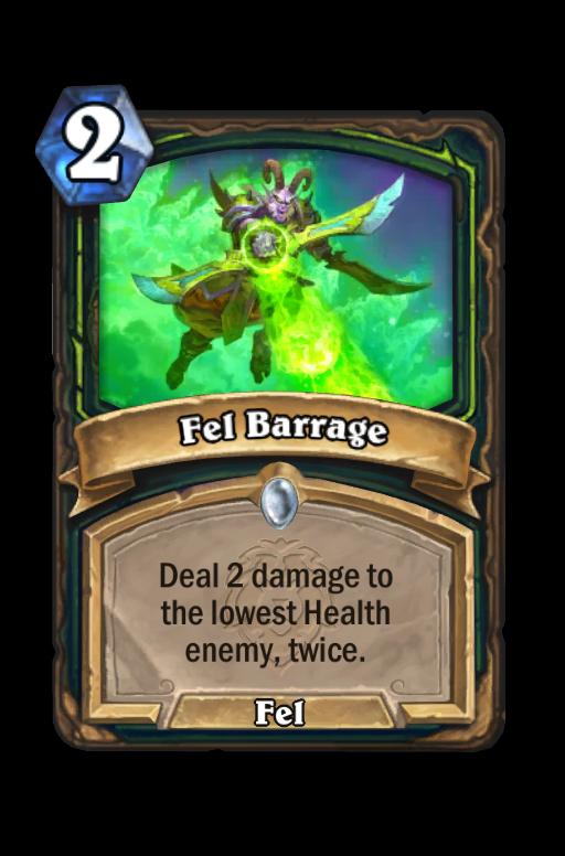 Fel Barrage Hearthstone kártya