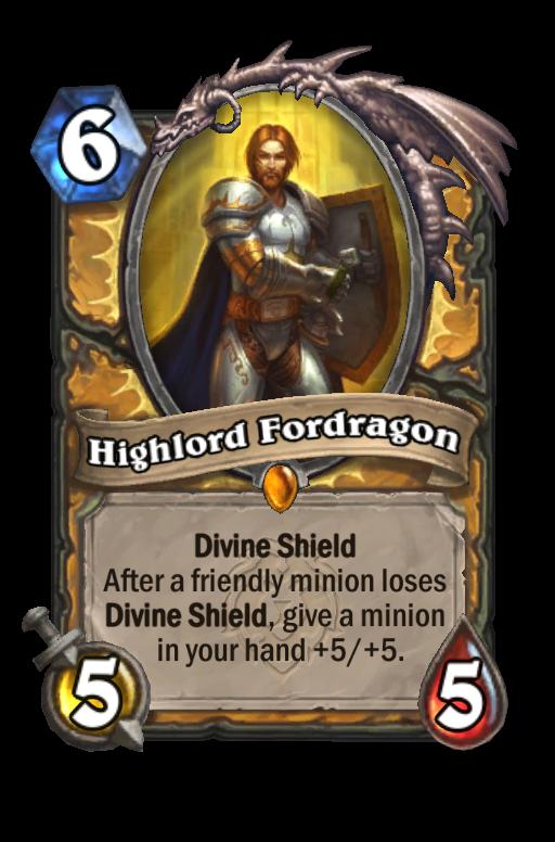 Highlord Fordragon Hearthstone kártya