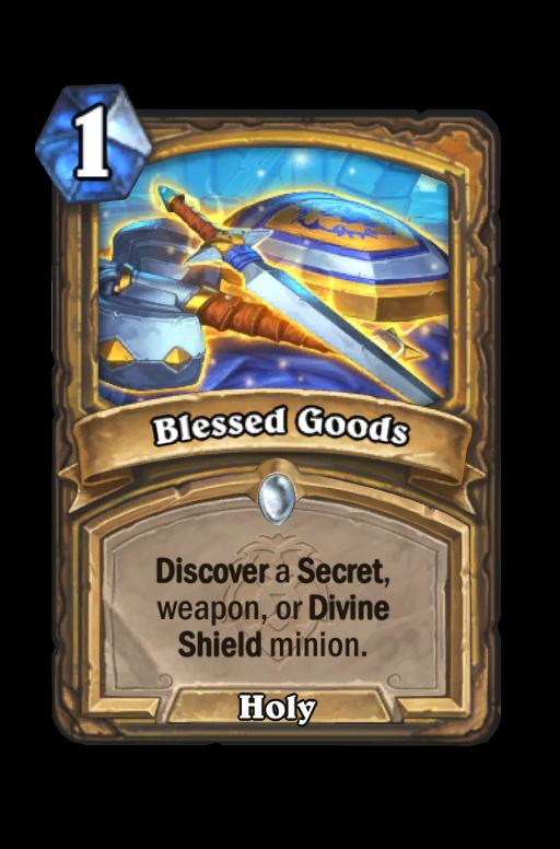 Blessed Goods Hearthstone kártya