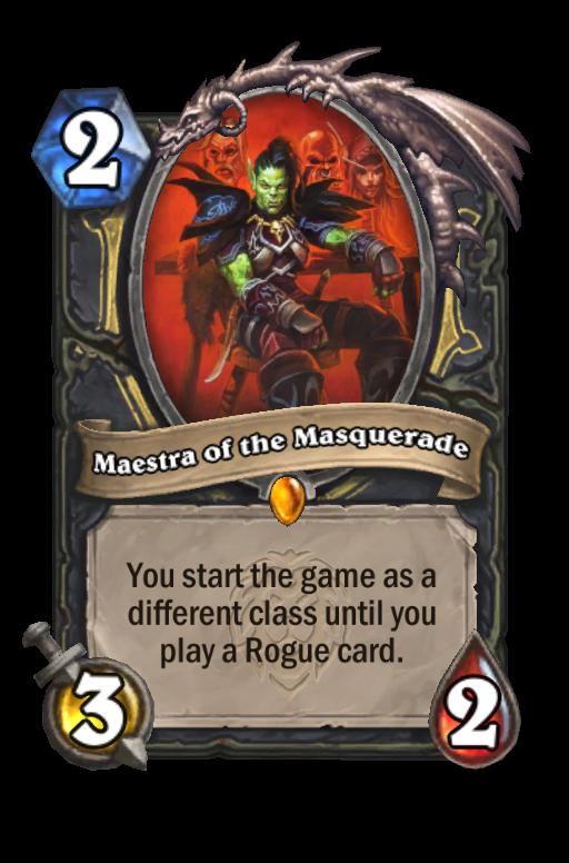Maestra of the Masquerade Hearthstone kártya