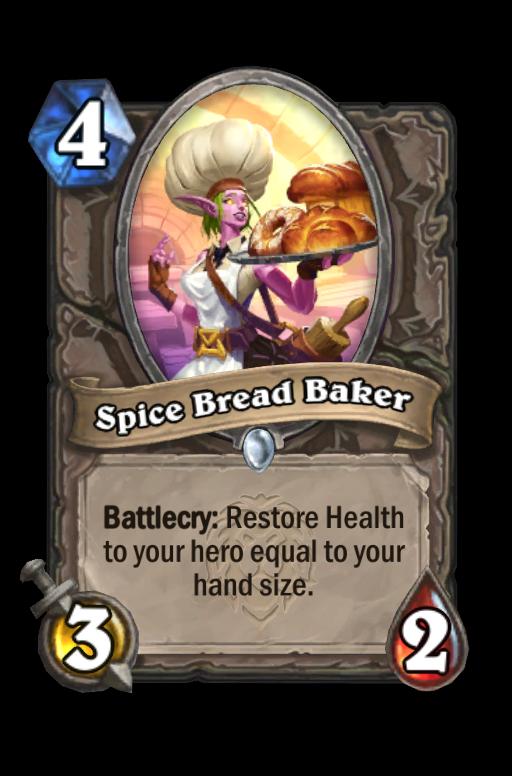 Spice Bread Baker Hearthstone kártya