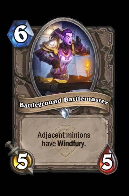 Battleground Battlemaster Hearthstone kártya