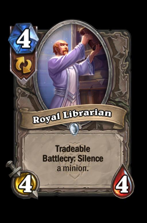 Royal Librarian Hearthstone kártya