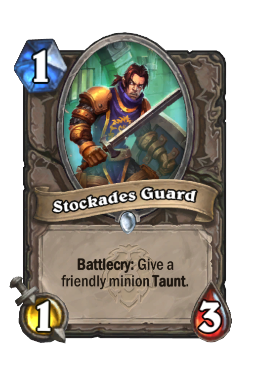Stockades Guard Hearthstone kártya
