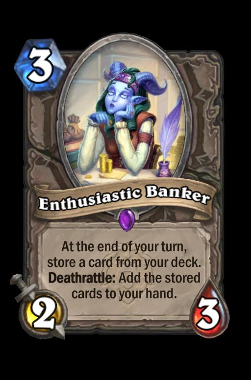 Enthusiastic Banker Hearthstone kártya