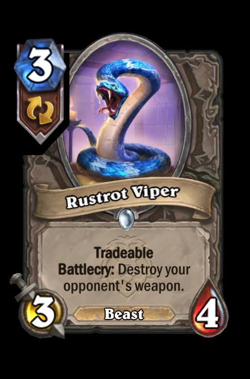 Rustrot Viper Hearthstone kártya