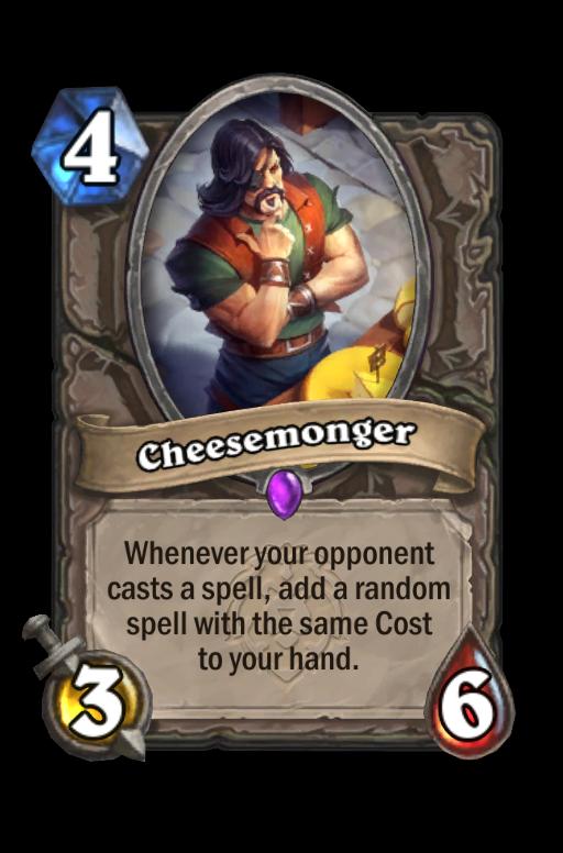 Cheesemonger Hearthstone kártya