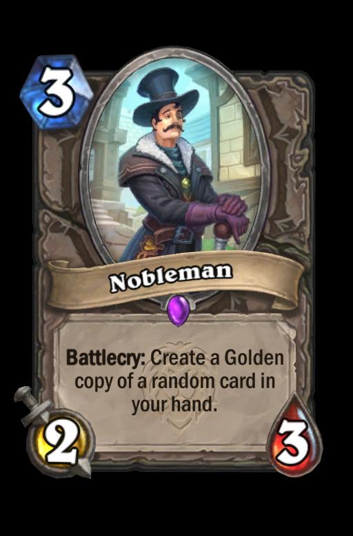 Nobleman Hearthstone kártya