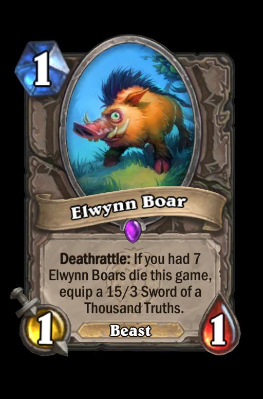 Elwynn Boar Hearthstone kártya