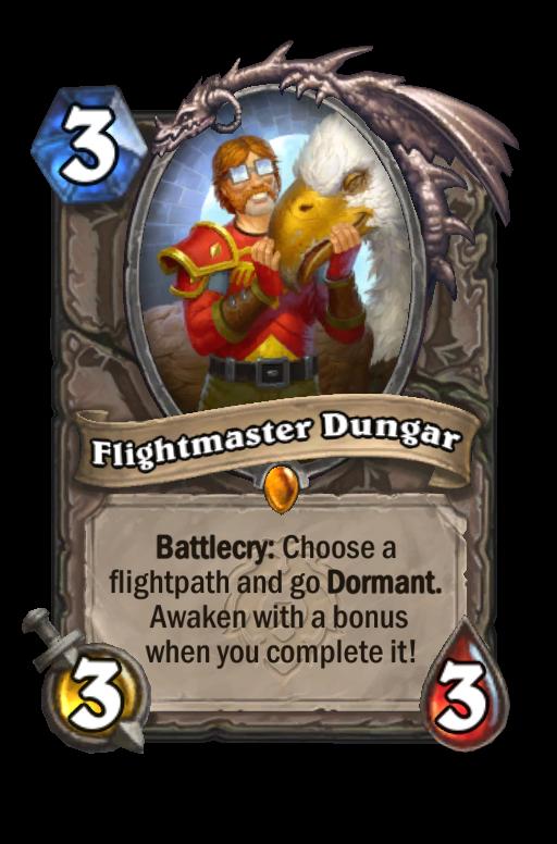Flightmaster Dungar Hearthstone kártya