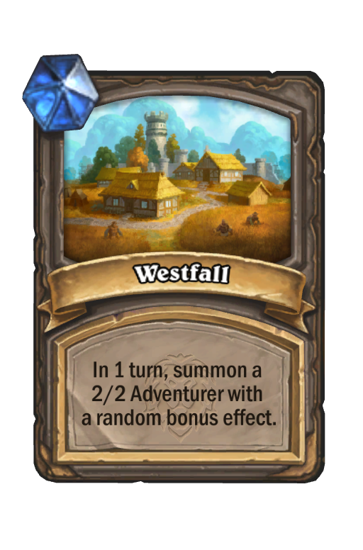 Westfall Hearthstone kártya
