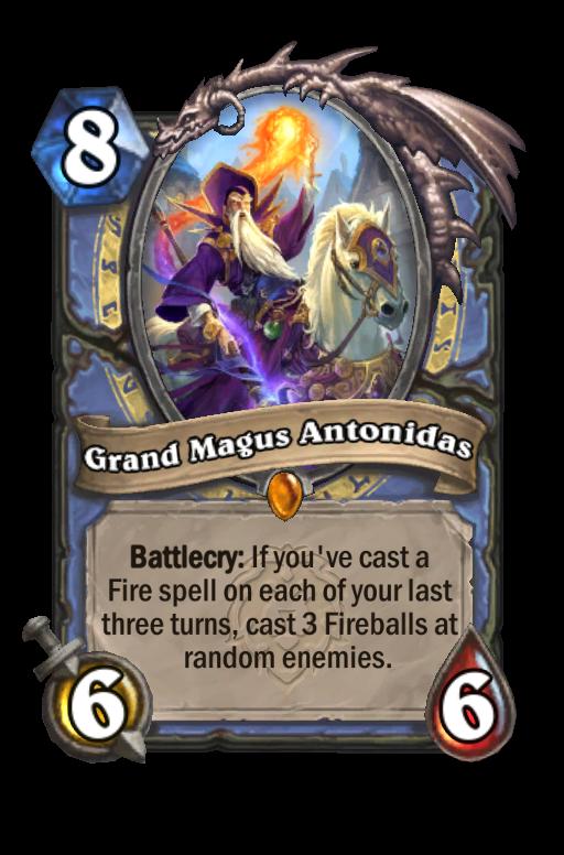 Grand Magus Antonidas Hearthstone kártya