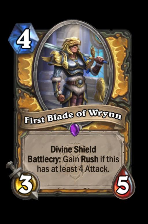 First Blade of Wrynn Hearthstone kártya