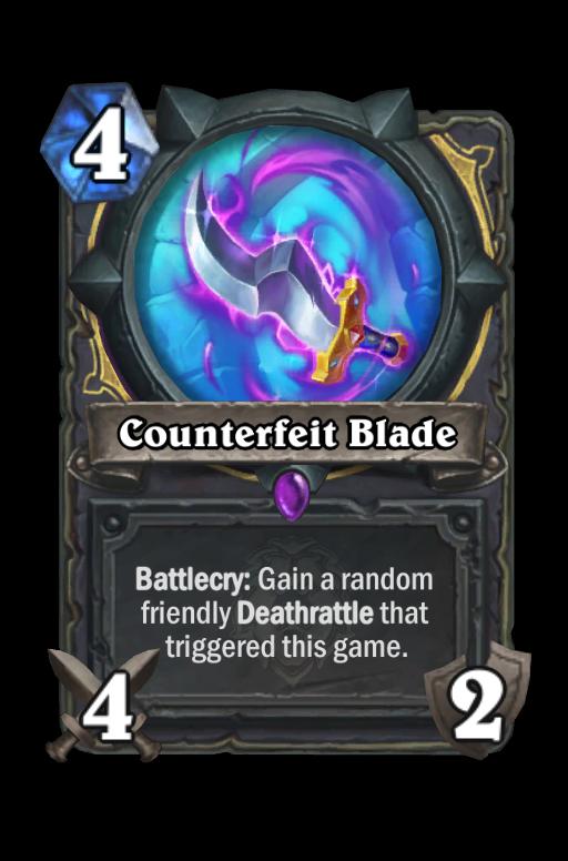 Counterfeit Blade Hearthstone kártya