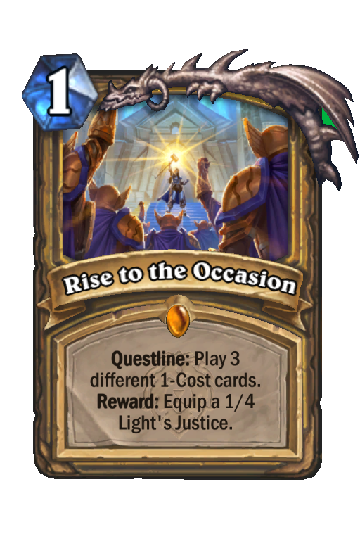 Rise to the Occasion Hearthstone kártya