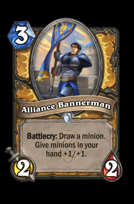 Alliance Bannerman Hearthstone kártya