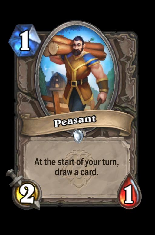 Peasant Hearthstone kártya