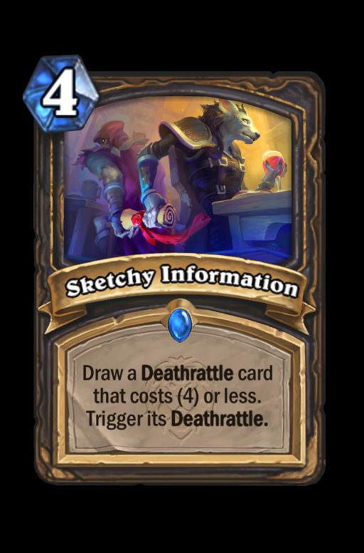 Sketchy Information Hearthstone kártya