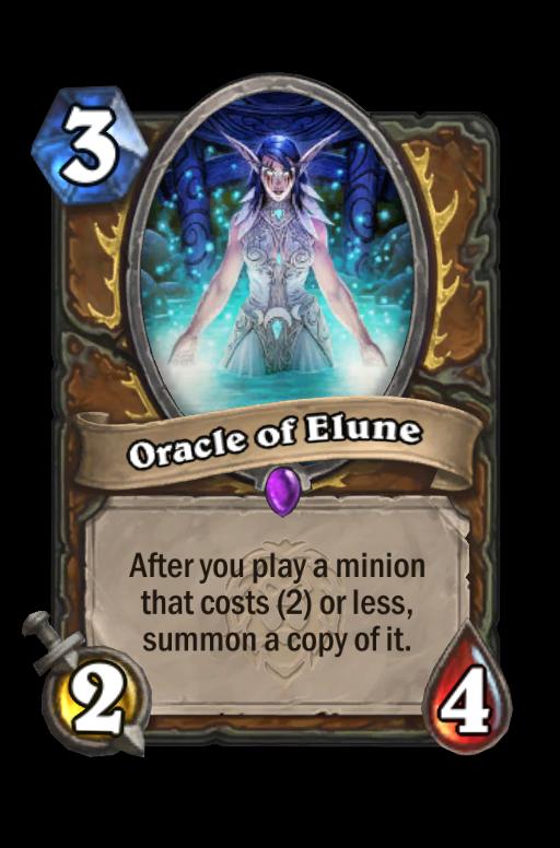 Oracle of Elune Hearthstone kártya