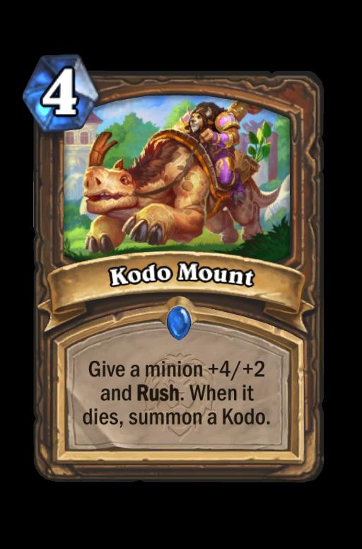 Kodo Mount Hearthstone kártya