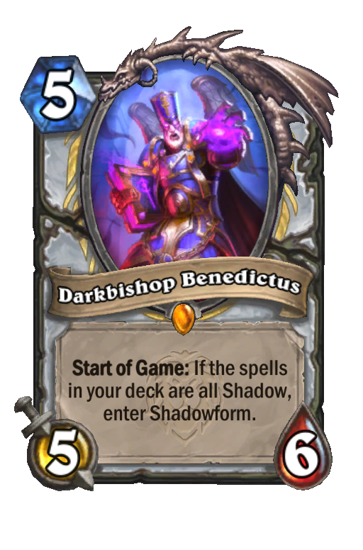 Darkbishop Benedictus Hearthstone kártya