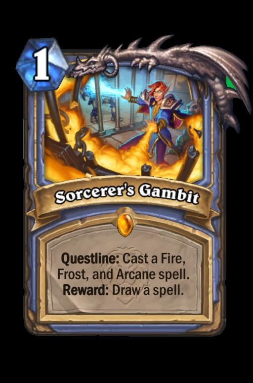 Sorcerer's Gambit Hearthstone kártya