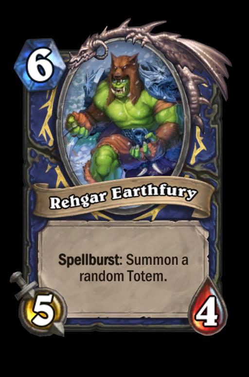 Rehgar Earthfury Hearthstone kártya