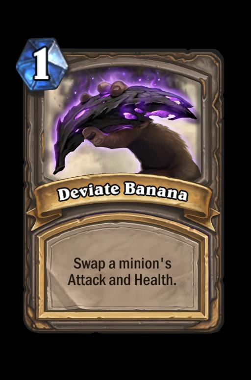 deviate banana hearthstone kártya